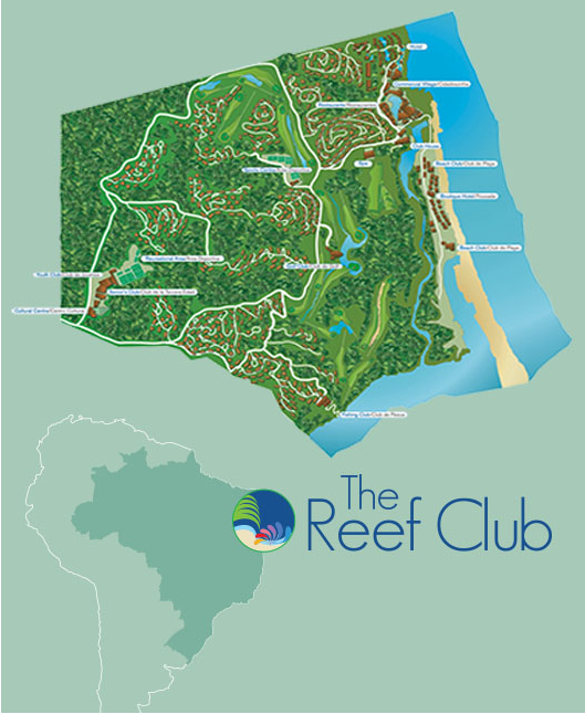 The Reef Club site map