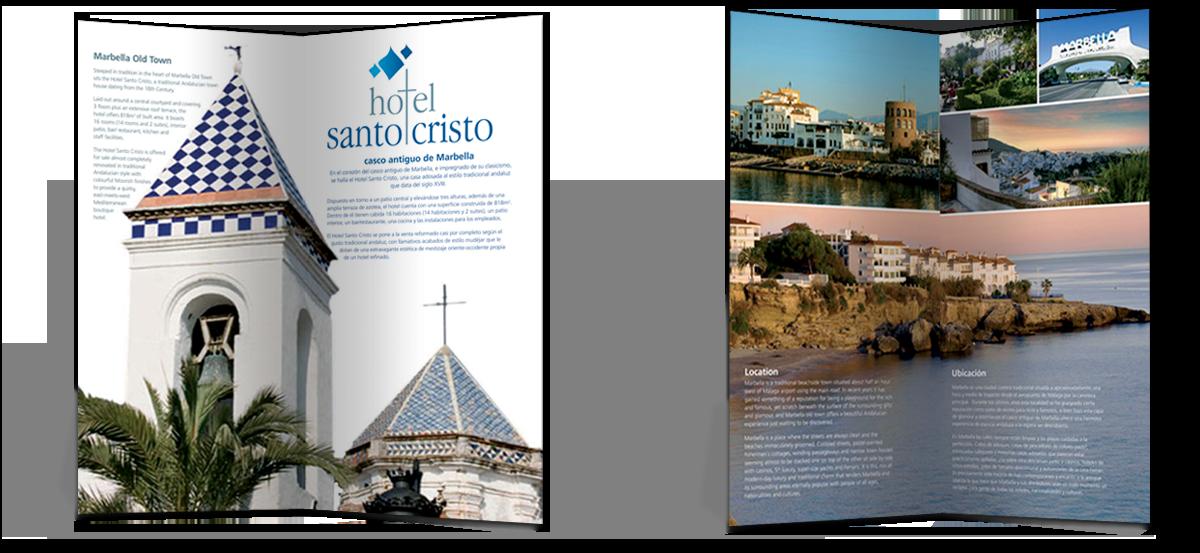 Hotel Santo Cristo brochure, basic fold