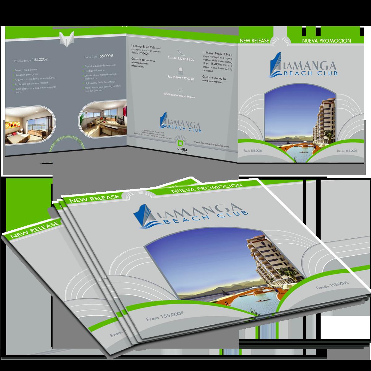 Trifold brochure, La Manga Property Development