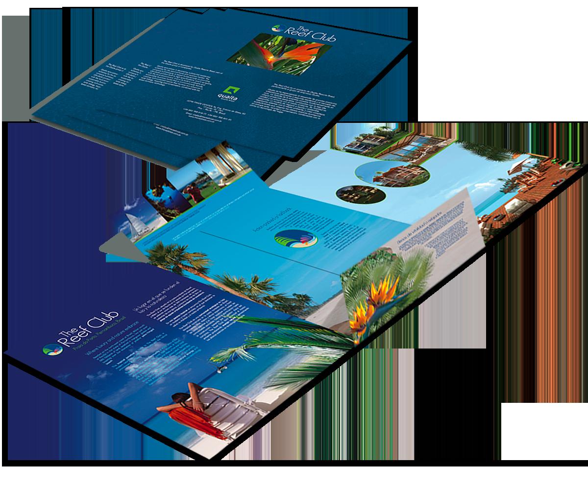 The Reef Club brochure, open